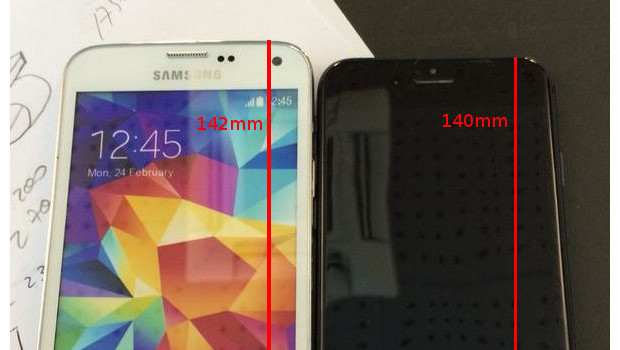iPhone 6 in confronto al Galaxy S5