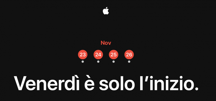Black Friday Apple, il 2018 sarà anche Cyber Monday